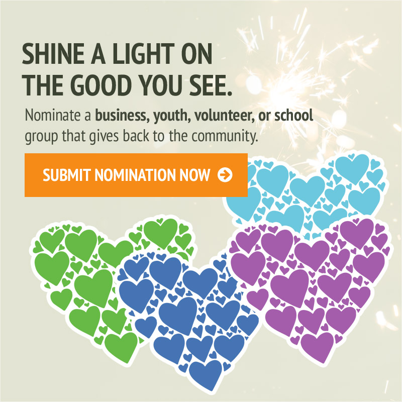 Nominate a business, youth, volunteer or school today